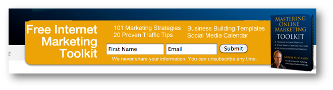 Mastering Online Marketing optin box