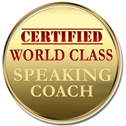 Certified World Class Speaking Coach logo